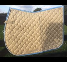 MARK TODD SADDLE PAD - BEIGE SKY - SALE